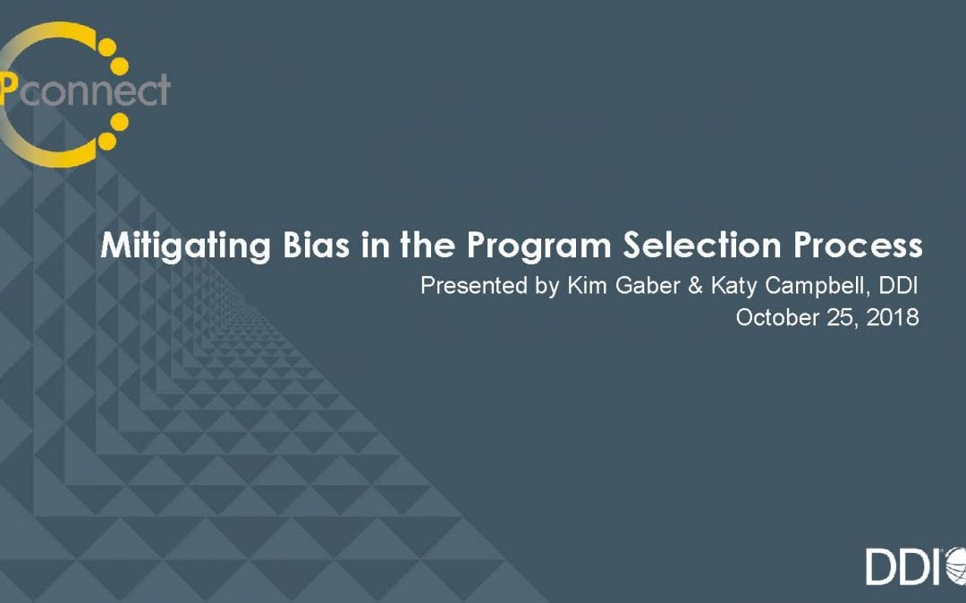 Removing Bias in Leadership Development Program Selection